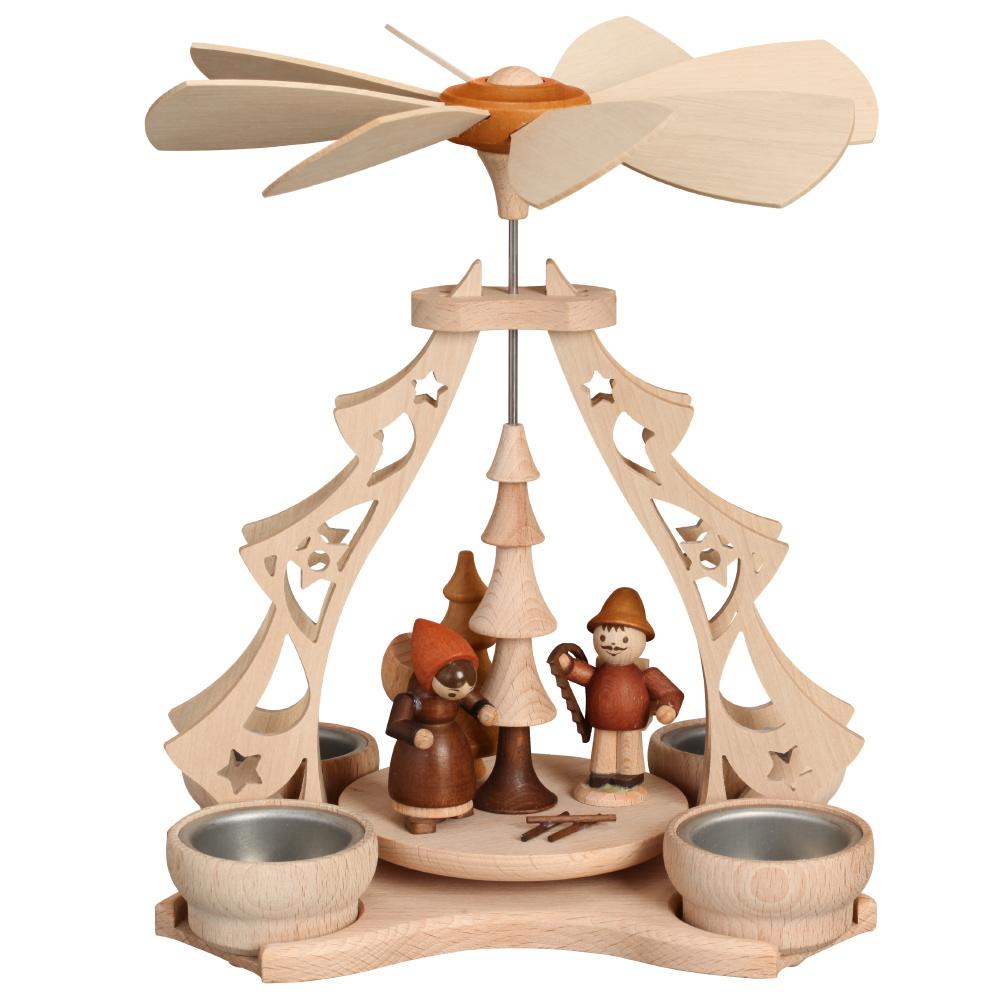 Tischpyramiden Waldfiguren für 4 Teelichter