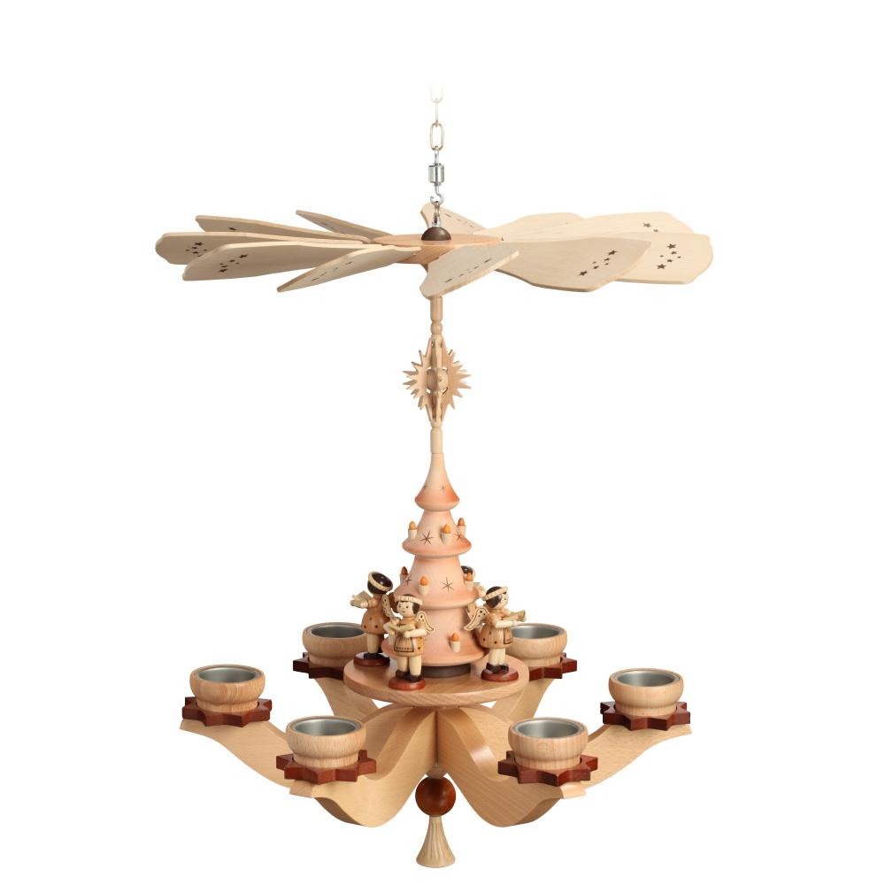 Hängepyramide Engel für sechs Teelichter Kopie
