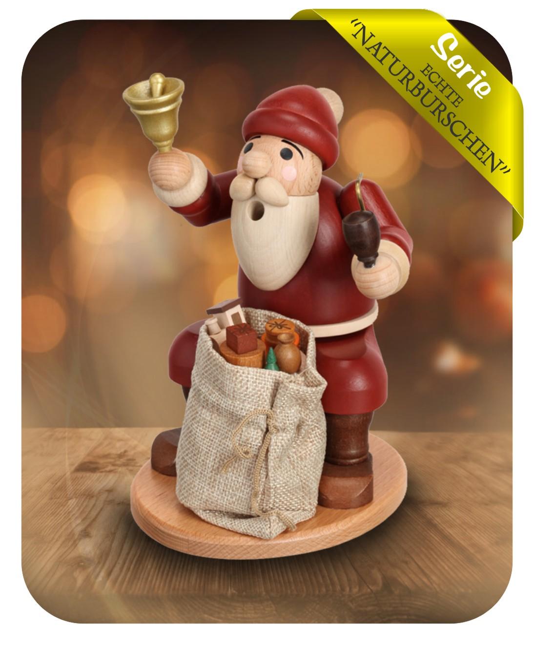 """Räucherfigur """"Weihnachtsmann mit Sack"""""""