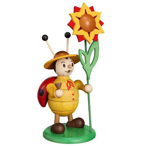 Räuchermarienkäfer mit Blume