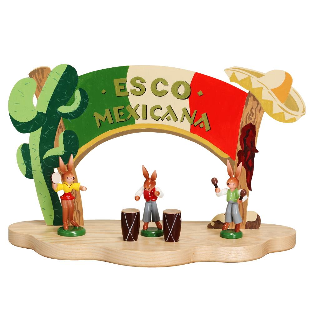 Mexicana Hase mit Bongo Trommeln