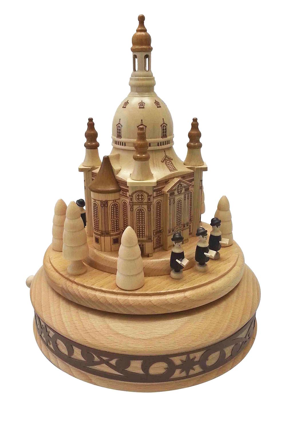 Spieldose Dresdner Frauenkirche und Sängern