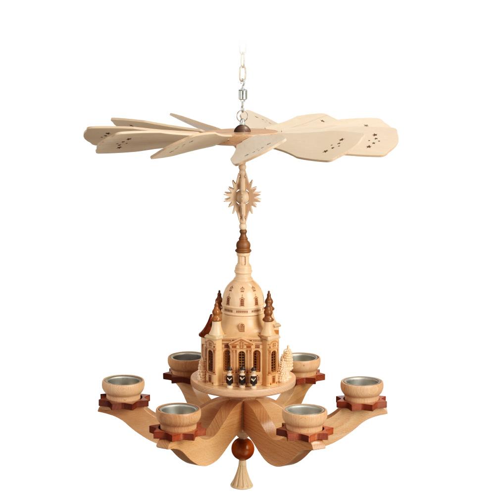 Hängepyramide Dresdner Frauenkirche für sechs Teelichter