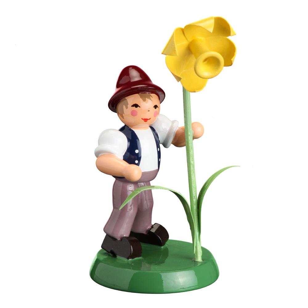 Blumenjunge mit Narzisse