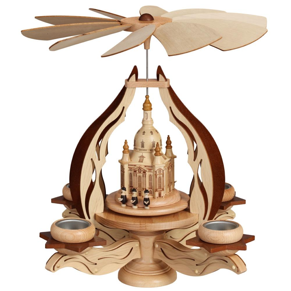 Leuchterpyramide Frauenkirche für vier Teelichter