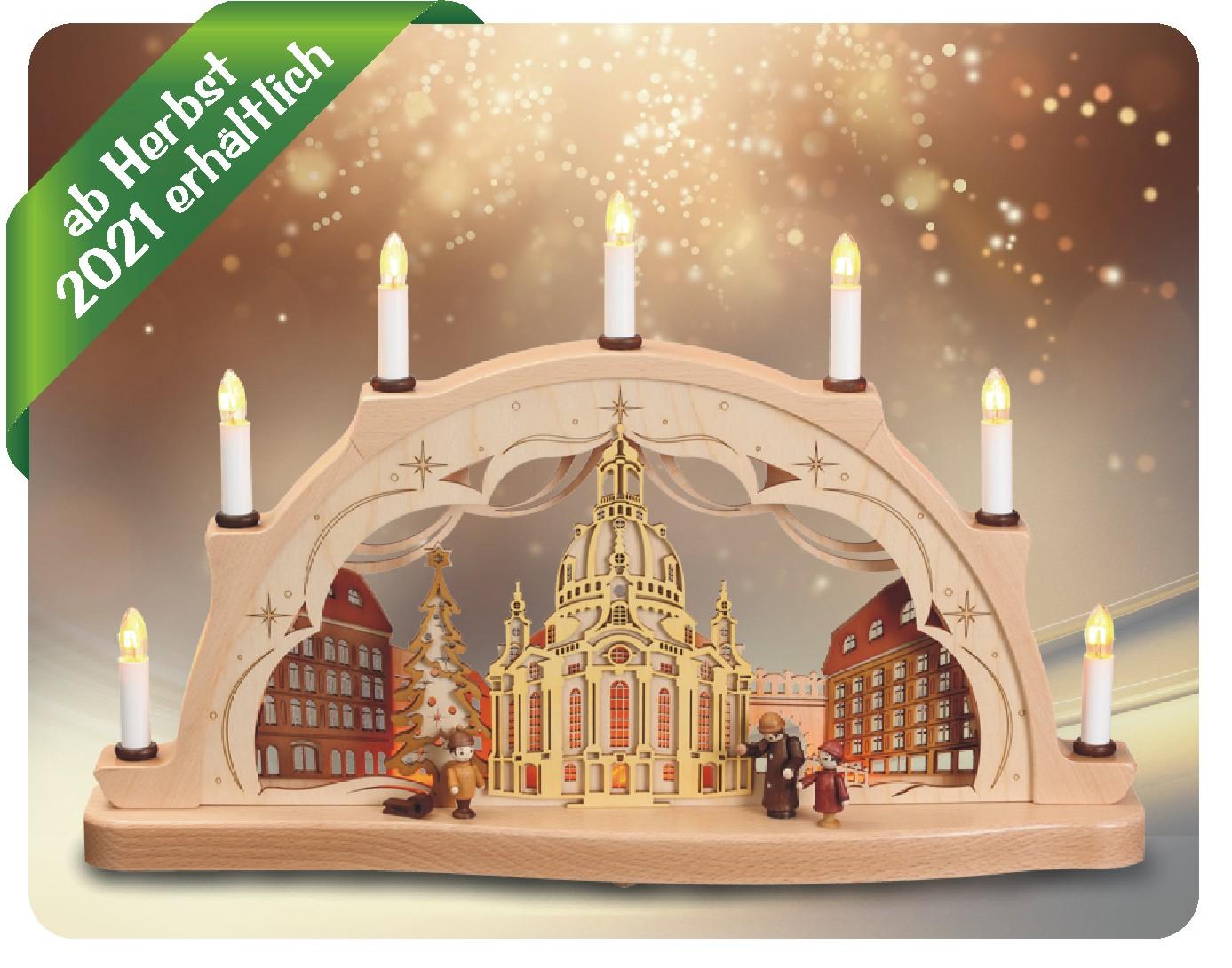 Schwibbogen mit Dresdner Frauenkirche in 3D Optik