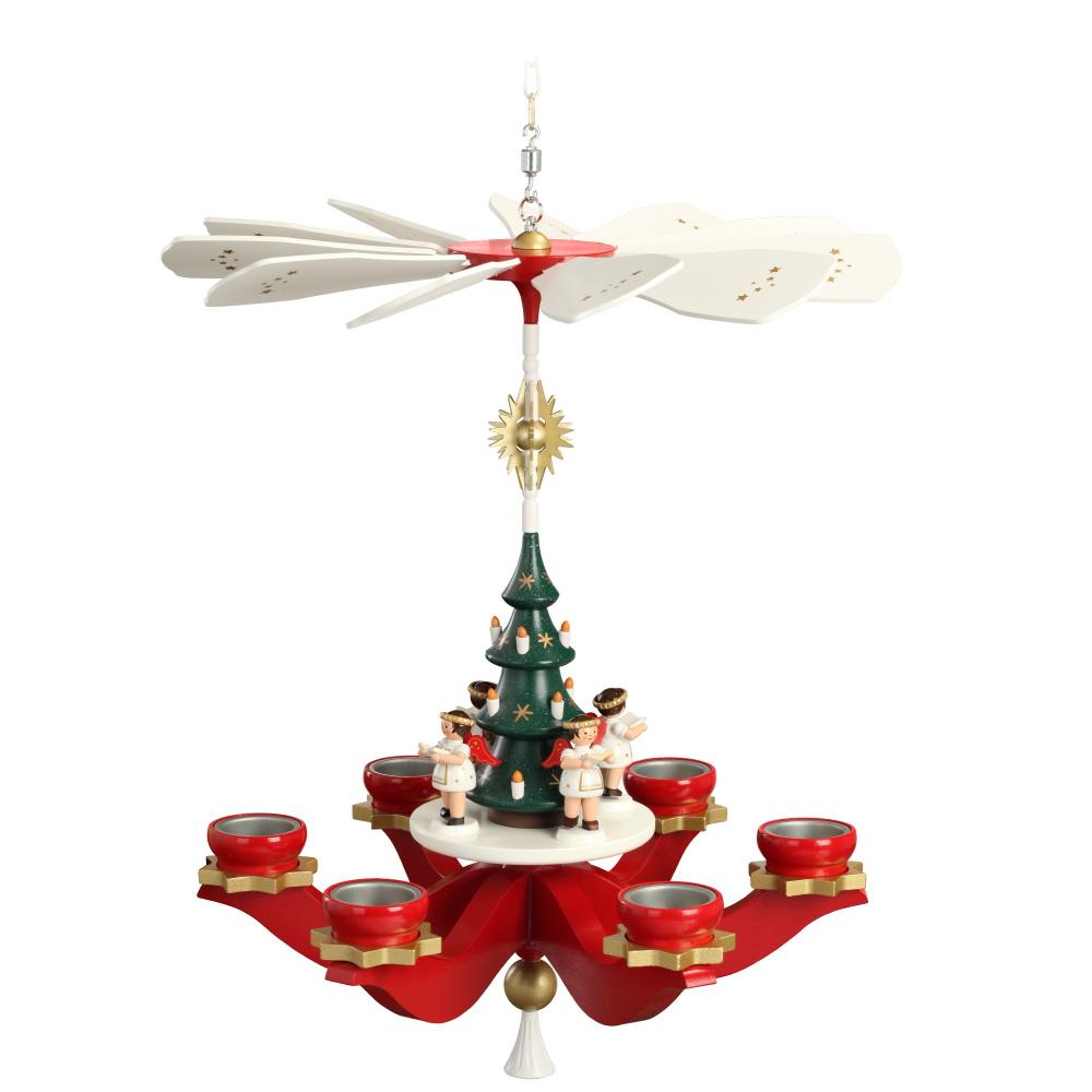 Hängepyramide Engel für 6 Teelichter