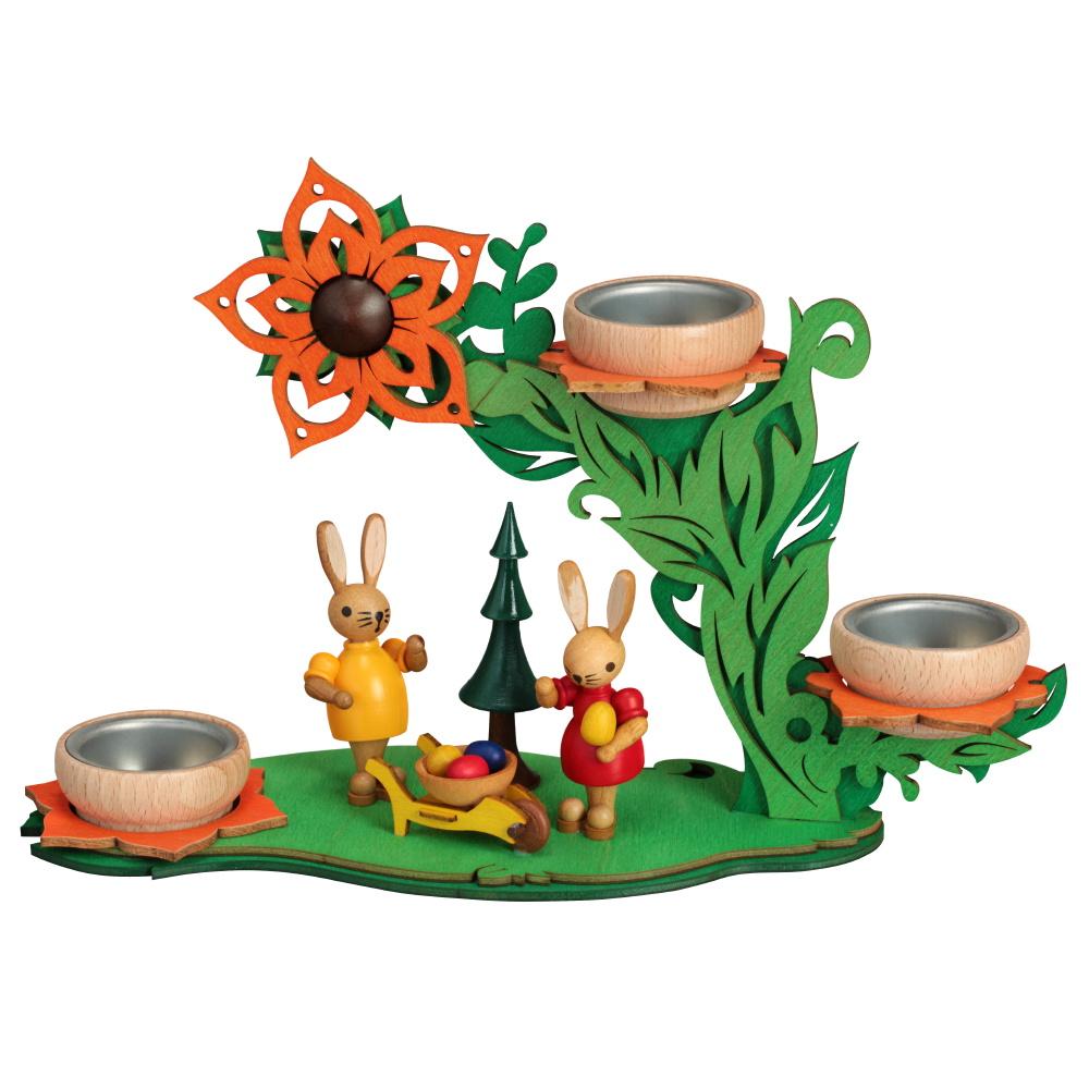 Teelichthalter Blütenranke