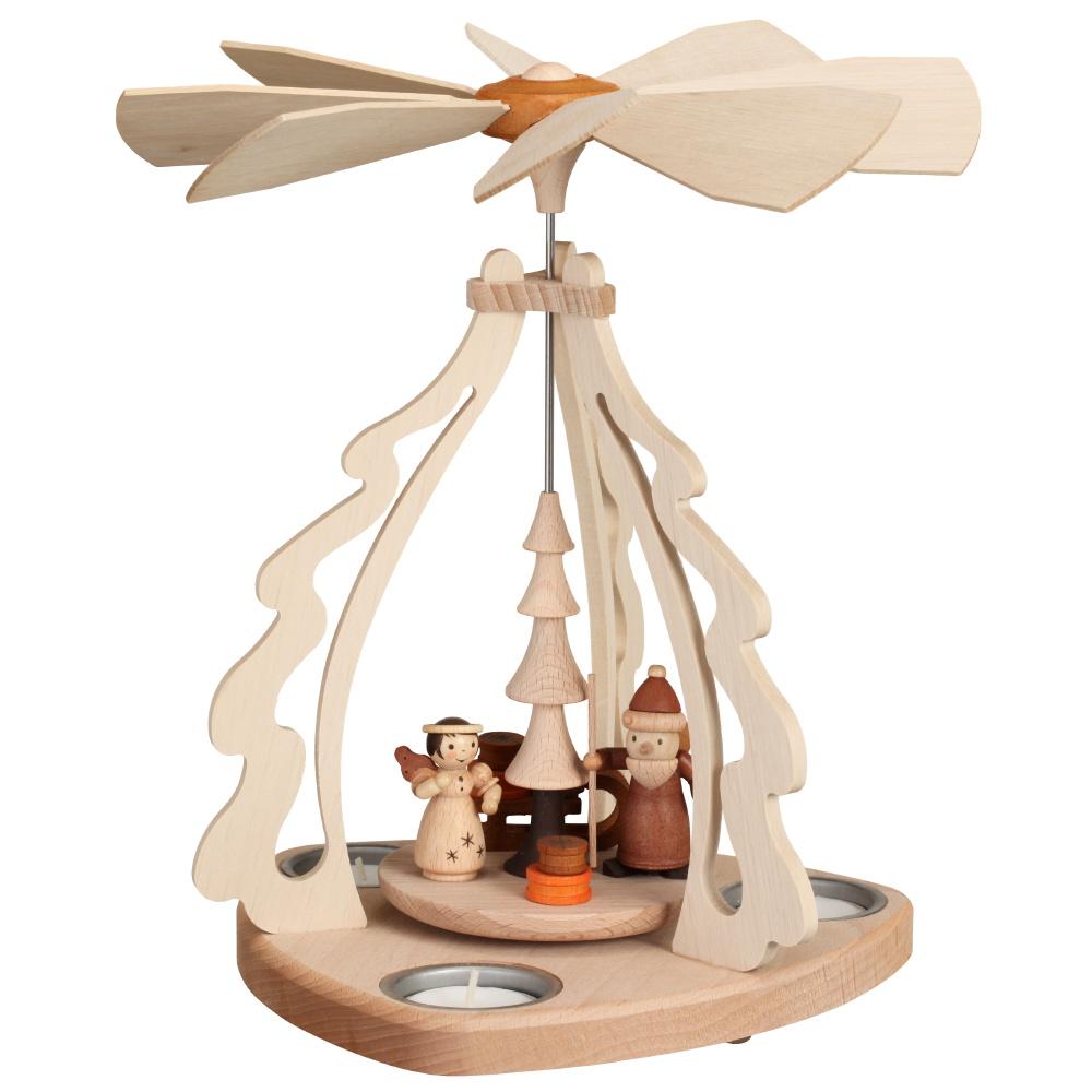 Tischpyramide Bescherung für 3 Teelichter